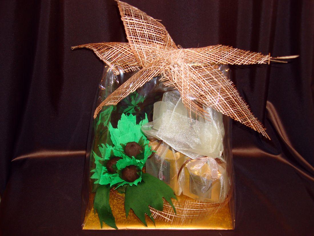 Орешек - кофейный подарочный  набор с конфетами №9.