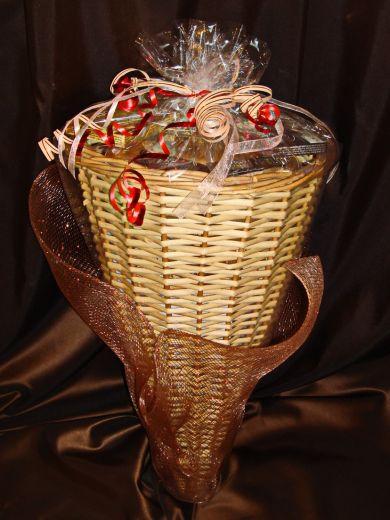 Большой Рог Изобилия - подарочный набор с кофе, чаем и конфетами № 44
